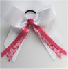 BC280 Awareness Hair Bow w/ streamers
